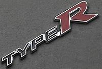 3D эмблема TypeR - черный-красный
