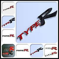 3D эмблема TypeR - красный-черный, фото 1