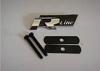 "3D эмблема ""R-line""  на решётку  радиатора Черная, фото 1"