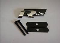 "3D эмблема ""R-line""  на решётку  радиатора Черная"