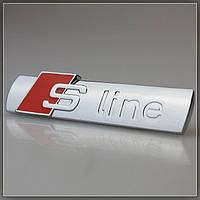3D эмблема S-LINE на решетку радиатора - Цвет красный
