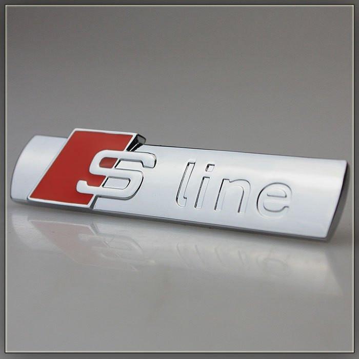 3D эмблема S-LINE на решетку радиатора - Цвет красный, фото 1