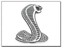"Эмблема ""Ford Shelby Cobra""  на переднюю решетку, фото 1"