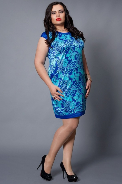Платье женское больших размеров, размеры 46-48