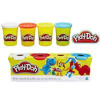 Набор пластилина Play-Doh 4 цвета общим весом 448 грамм (Динозавры). Оригинал Hasbro