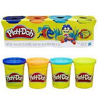 Набор пластилина Play-Doh 4 цвета общим весом 448 грамм (Морские жители). Оригинал Hasbro
