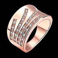 Перстень Бриз покрытие золото 18К