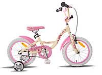 """Детский велосипед PRIDE ALICE бежево-розовый матовый, 16"""" (BB 15)"""