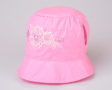 Панамка летняя для девочки (Панамка) розовая