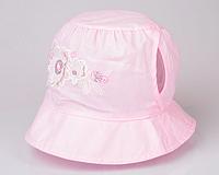 Панамка летняя для девочки (Панамка) нежно-розовая