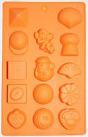Форма силиконовая   Ассорти оранж планшет
