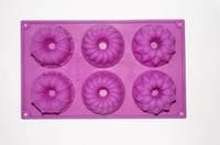Форма силиконовая  Цветочный кекс планшет