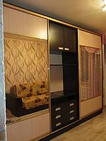 Шкаф-купе на заказ под телевизор S-062