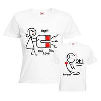 """Парные футболки для влюбленных """"Магнит"""""""