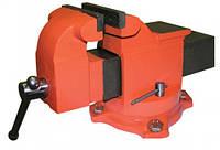 Тиски слесарные поворотные 100мм + наковальня (арт.20084)