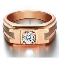 Перстень Эйм покрытие 18К золото циркон
