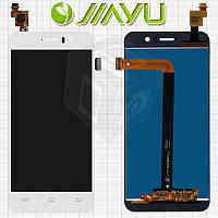 Дисплейный модуль (дисплей + сенсор) для Jiayu G5 / G5S, белый, оригинал