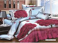 Качественный Полуторный комплект постельного белья сатин Allbero Arya AR23