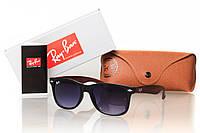 Солнцезащитные очки матовый черный/имитация дерева RAY BAN WAYFARER черный/матовый 8310