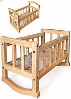Кукольная кроватка-качалка