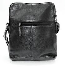 Отличная повседневная кожаная сумка черная TOFIONNO, фото 3