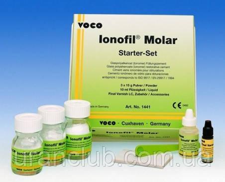 Иономерный цемент ionofil molar (Ионофил Молар) VOCO 3х15 мл.+10 мл.+3 мл.
