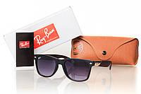 Солнцезащитные очки реплика матовый черный имитация вишневого дерева оправа RAY  BAN WAYFARER 6914 5463c37634c