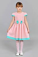 Нарядное праздничное детское летнее платье со стразами