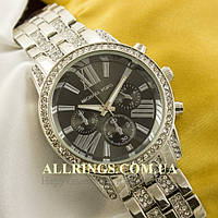 Кварцевые женские наручные часы Michael Kors silver black