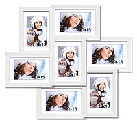 Мультирамка-коллаж Камелия на 7 фотографий 10x15 белая