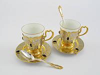 Кофейный набор посуды для двоих с яшмой, фото 1
