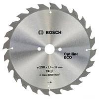 Циркулярный диск Bosch 190x20/16 24 Optiline ECO