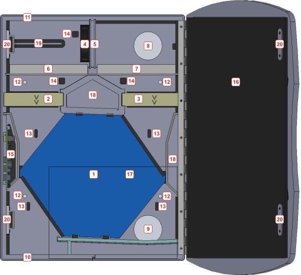 Основные элементы рекуператора Bayernluft BV-WRG-C