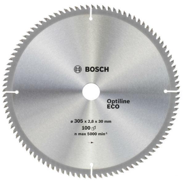 Циркулярный диск Bosch 305x30 100 Optiline ECO
