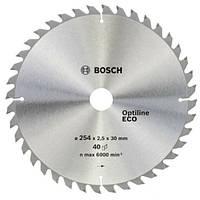 Циркулярный диск Bosch 254x30 40 Optiline ECO