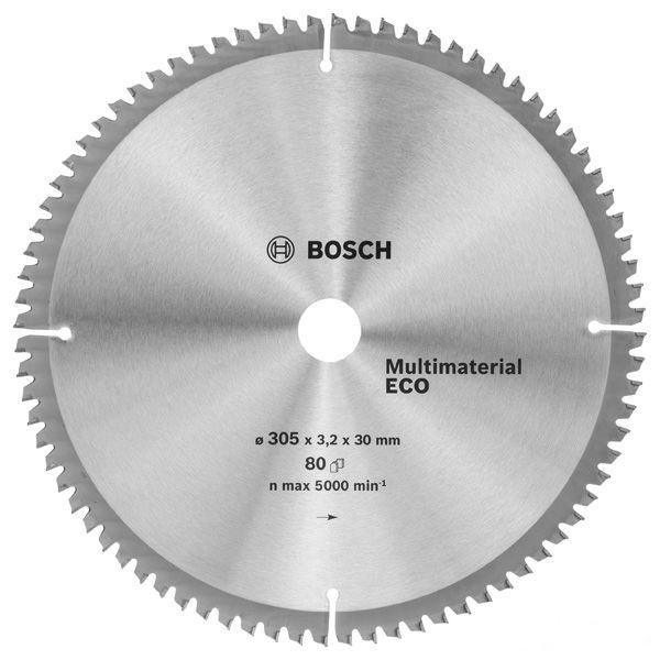 Циркулярный диск Bosch 305x30 80 Multi ECO