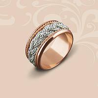 Золотое обручальное кольцо комбинированное 6.1 гр