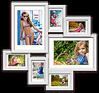 Мультирамка-коллаж Алисса на 7 фотографий белая