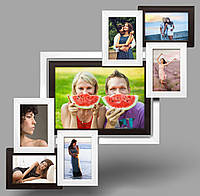 Мультирамка-коллаж Анфиса на 7 фотографий черно-белая, фото 1