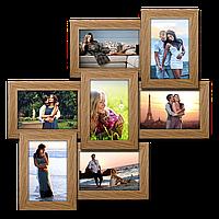 Мультирамка-коллаж Классическая на 7 фотографий 10x15