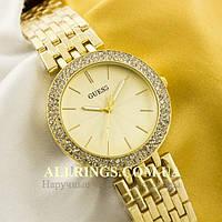 Кварцевые женские наручные часы Guess gold gold