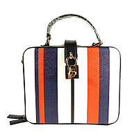 Стильная женская, молодежная сумочка Velina Fabbiano 61314 с принтом полоски