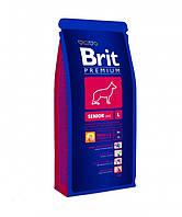 Brit Premium Senior L - сухой корм для пожилых собак крупных пород (25-45 кг)