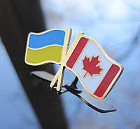 Значок флаг Украины и Канады