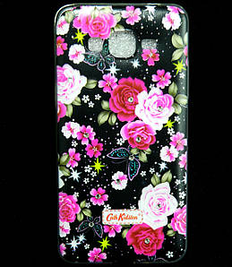 Чехол накладка для Samsung Galaxy Grand Prime G530H силиконовый Diamond Cath Kidston, Ночные розы