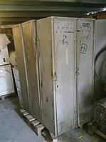 Шкаф для бытовки железный 2-х секционный