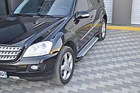Пороги, боковые подножки Mercedes ML 164 (BMW style)