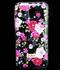Чехол накладка для Meizu M2 mini силиконовый Diamond Cath Kidston, Ночные розы
