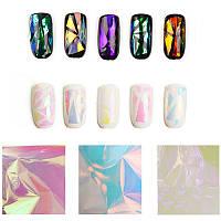 """Фольга для дизайна ногтей """"Битое стекло"""""""