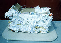 Отходы металлизированного этикета